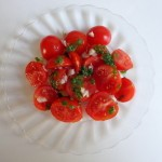 pistou on tomatoes