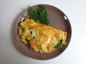 spinach salmon omelet1