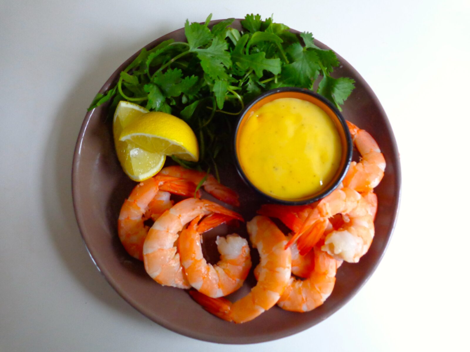 Shrimp with homemade mayonnaise the everyday french chef for French starters vegetarian