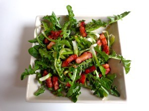 dandelion bacon salad2