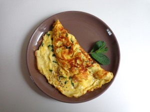 goat cheese omelet1