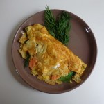 spinach salmon omelet3