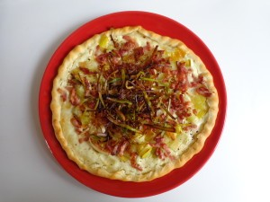 Leek bacon tart5