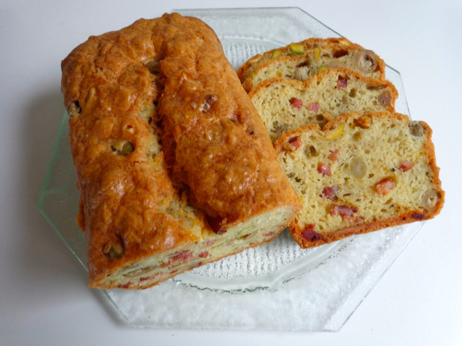 Savory Cake With Olives Bacon And Pistachios The Everyday French Chef